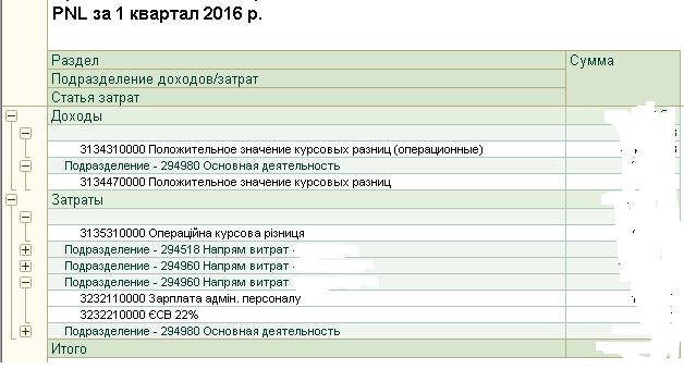 Отчет о доходах и расходах (прибылях и убытках)